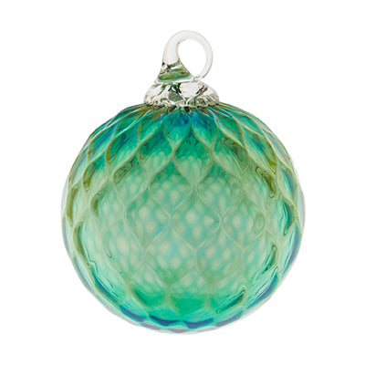 Emerald Green May Glass Ornament