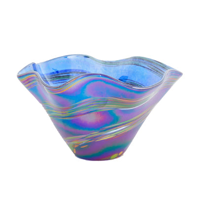 Blue Rainbow Mini Twist Vase
