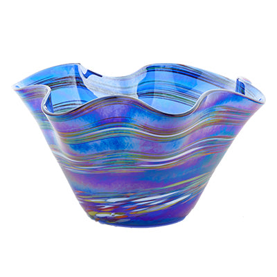 Blue Rainbow Twist Vase
