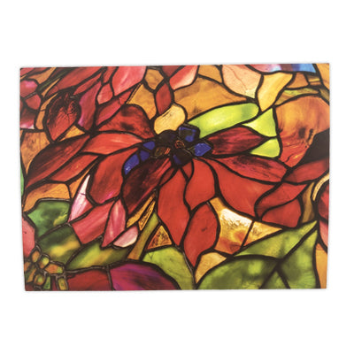 Louis C Tiffany Poinsettia Shade Box Cards