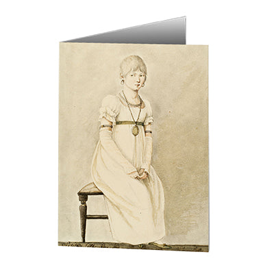 Baroness Hyde de Neuville - Young Girl Notecard