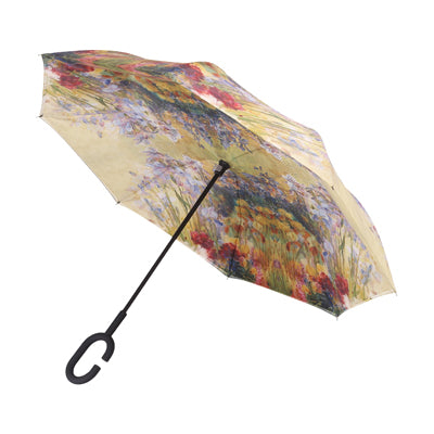 Louis C Tiffany Peony and Iris Umbrella Stick