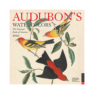 2021 Audubon's Watercolors Wall Calendar