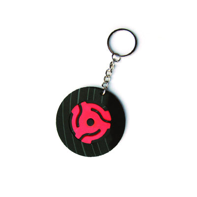 Vintage Recycled Record Key Chain