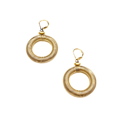 Gold Loop Piano Wire Earrings