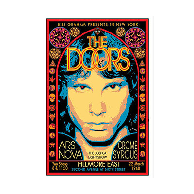 David Byrd The Doors Fillmore East 1968 Poster