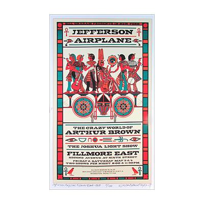 David Byrd Jefferson Airplane Fillmore East 1968 Poster