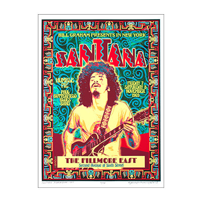 David Byrd Santana Fillmore East 1968 Poster