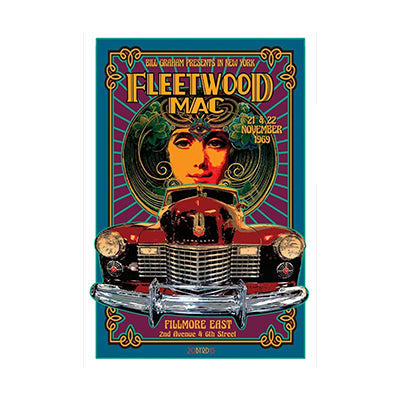 David Byrd Fleetwood Mac 1969 Poster