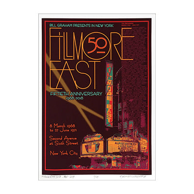 David Byrd Fillmore East 50th Anniversary 1968-2018 Poster