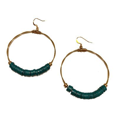 Vinyl Turquoise Teal Earrings