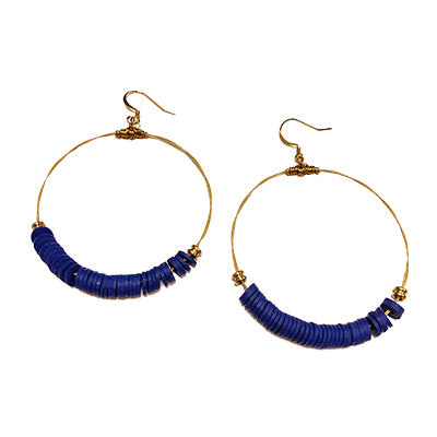 Vinyl Royal Blue Earrings