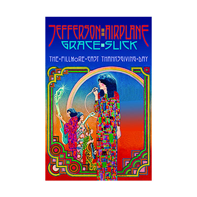Jefferson Airplane Fillmore East Thanksgiving 1970 Poster