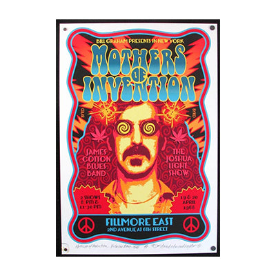 David Byrd Mothers of Invention Fillmore East 1968 Poster