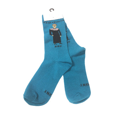 Ruth Bader Ginsburg We March Socks