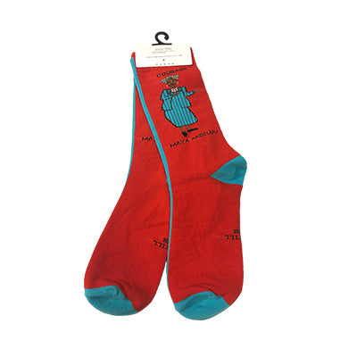 Maya Angelou Courage Socks