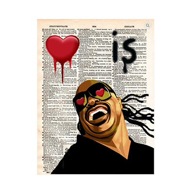 Love is Blind Stevie Wonder Print