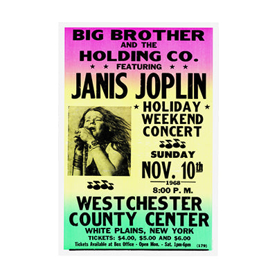 Janis Joplin Big Brother Print