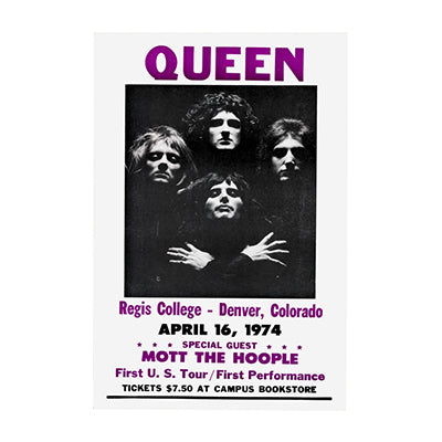Queen First US Concert Nostalgia Print