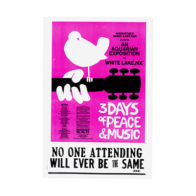 Woodstock 3 Days Peace Nostalgia Print