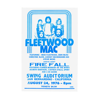 Fleetwood Mac Fire Fall Print