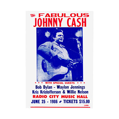 Johnny Cash Radio City Nostalgia Print