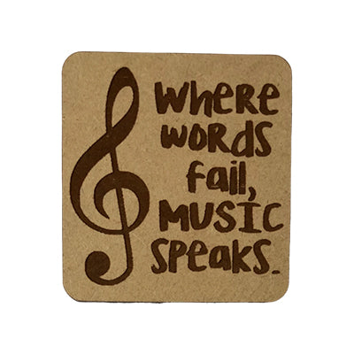 Music Speaks Quote Magnet
