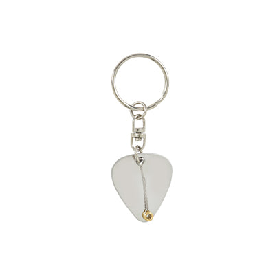 Guitar Pick and String Keychain