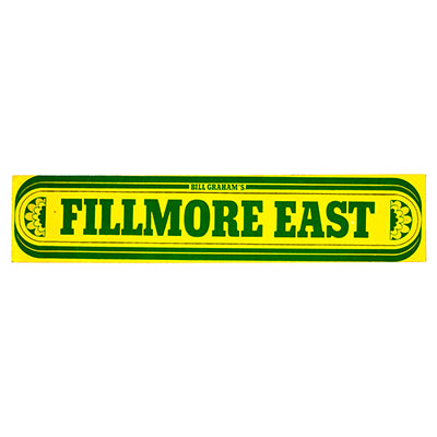 Fillmore East Sticker