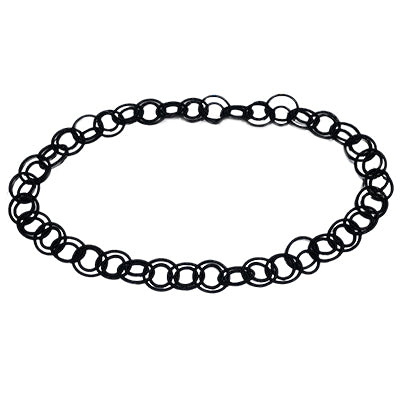 Black Multi Loop Necklace