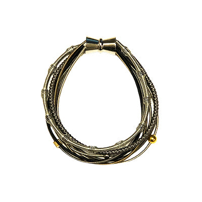 Multi Magnetic Piano Wire Bracelet