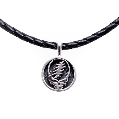 Grateful Dead Steal Your Face Leather Necklace