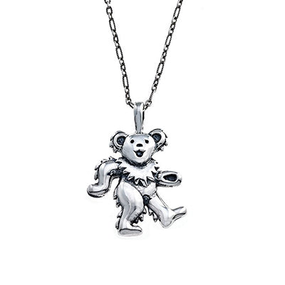 Grateful Dead Dancing Bear Necklace