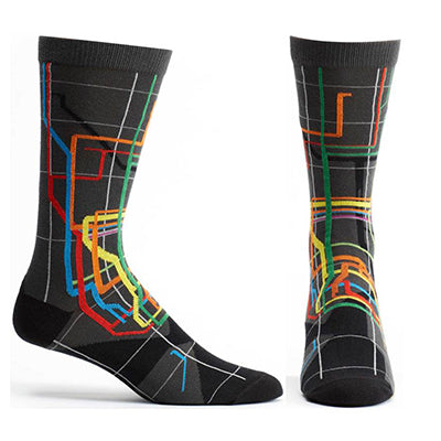 MTA Vignelli Diagram Subway Sock - Men
