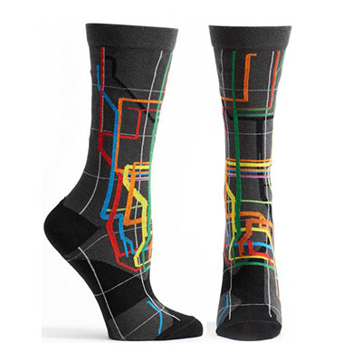 MTA Vignelli Diagram Subway Sock - Women