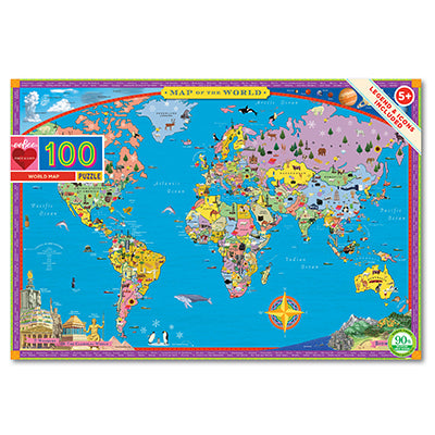 World Map Puzzle 100 piece