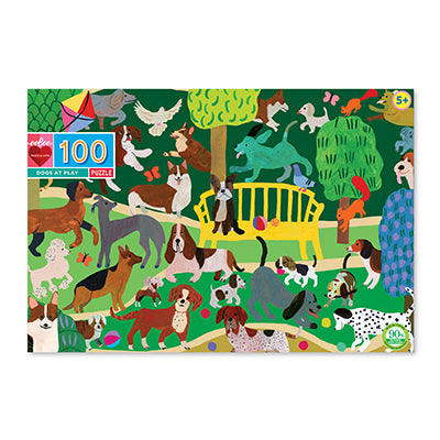 Dogs at Play 100 Piece Puzzle