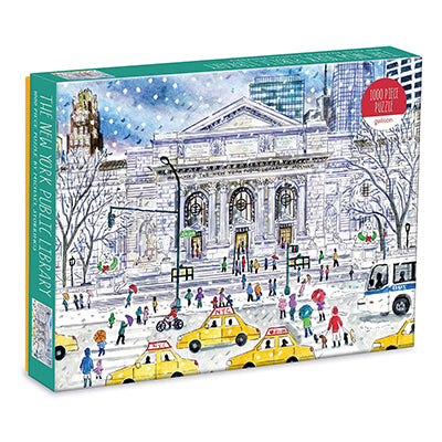 New York Public Library Winter Scene 1000-Piece Puzzle