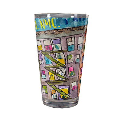 7PM NYC Gratitude Pint Glass