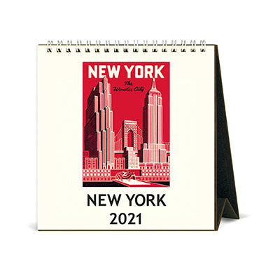 New York Desk Calendar 2021