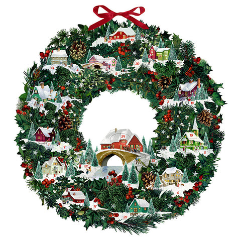 Christmas Wreath Festive House Advent Calendar