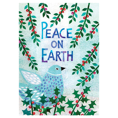 Peace and Holly Bird Box Notecards