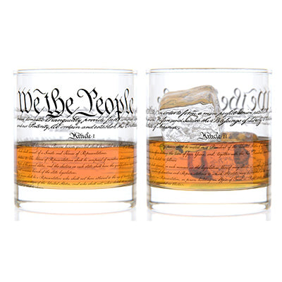 Constitution Rocks Glass Pair - Set of 2