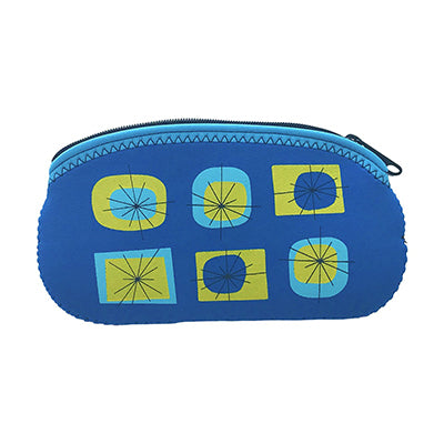 Atomic Eyeglass Case Blue