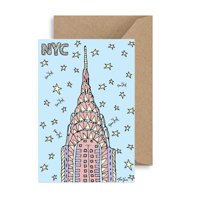 Chrysler Building Skyline NYC Notecard