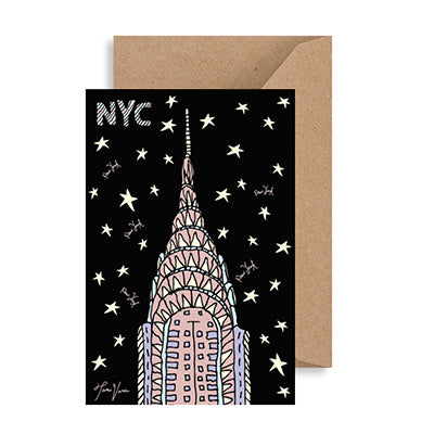 Chrysler Building Night NYC Notecard