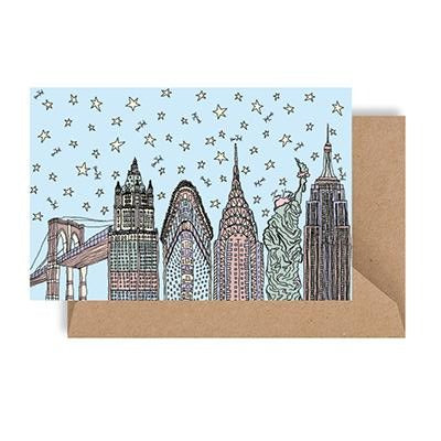 NYC 18 Day Skyline Notecard