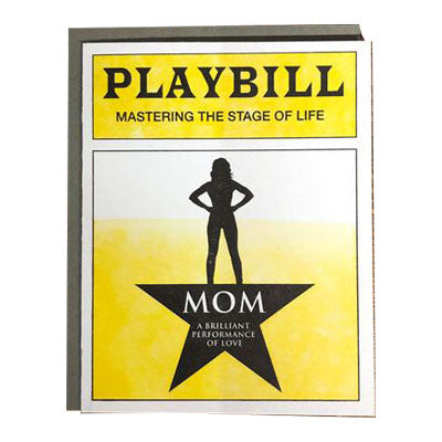 Mom Playbill Notecard