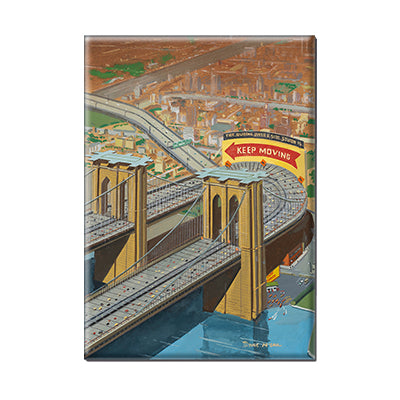 Bruce McCall's Brooklyn or Bust Magnet