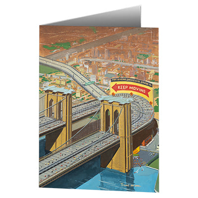 Bruce McCall's Brooklyn or Bust Notecard